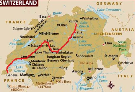 Geneva To Interlaken Train Map