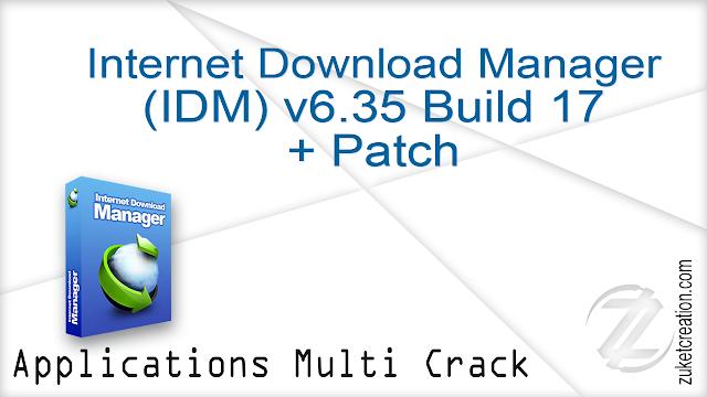Internet Download Manager v6.35 Build 17 + Patch