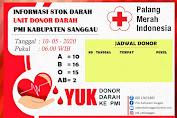 Update Stok Darah Di UDD PMI Kabupaten Sanggau