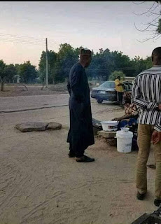 Picture Of The Day:Borno State Governor Visits Local Food Joint Without Aides And Security