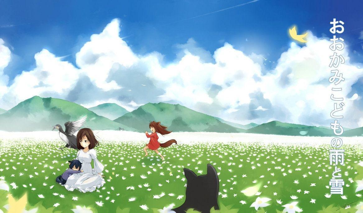 Ookami Kodomo no Ame to Yuki wallpaper