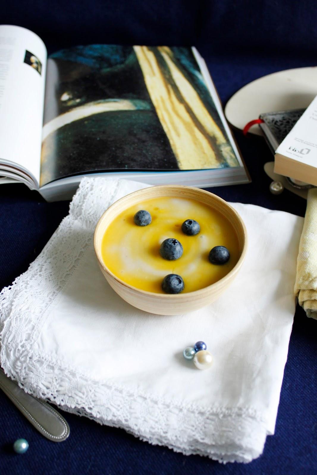 dessert vegan haricots blancs myrtilles coulis citron