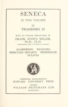 Tragedies by Seneca, Lucius Annaeus