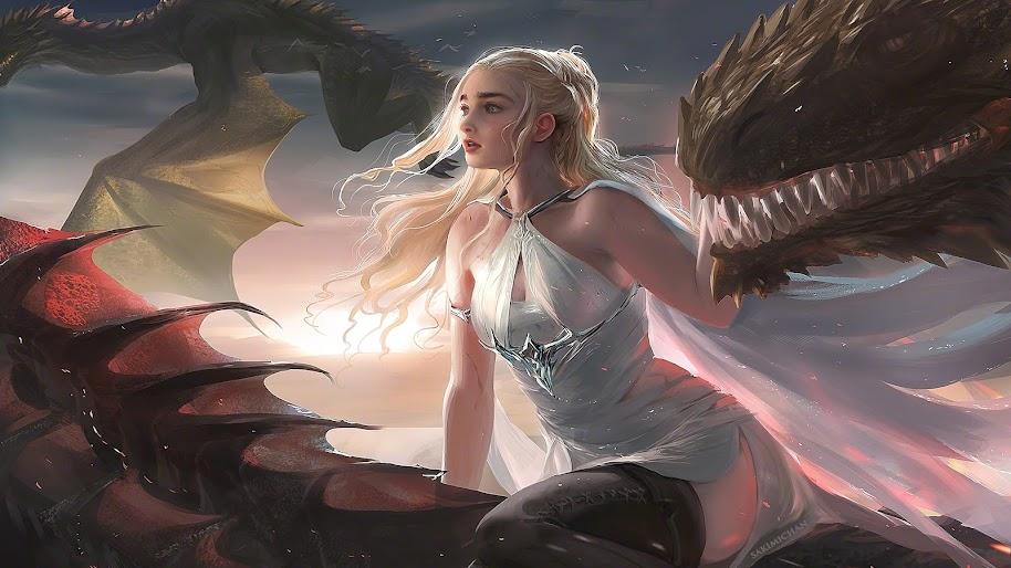 Daenerys Targaryen Dragon Game Of Thrones 4k Wallpaper 56