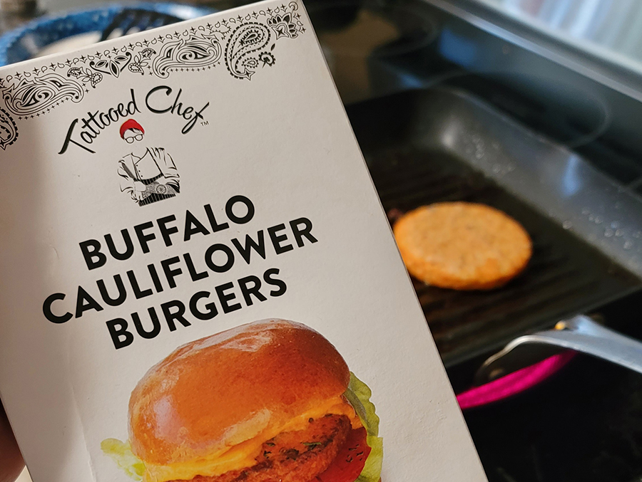 Tattooed Chef Buffalo Cauliflower Burger
