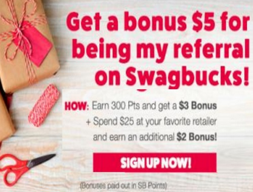 Swagbucks Get $5 Bonus When You Sign Up in December!