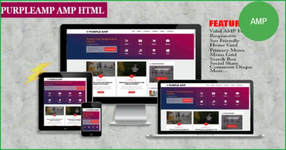 Purple-Amp-blogger-template