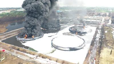 Dua Tanki Berhasil Dipadamkan, Pertamina Terus Lakukan Fire Fighting