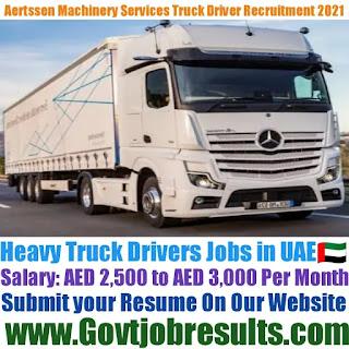 Aertssen Machinery Services Heavy Truck Driver Recruitment 2021-22
