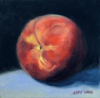 Peach oil painting by Jeff Ward