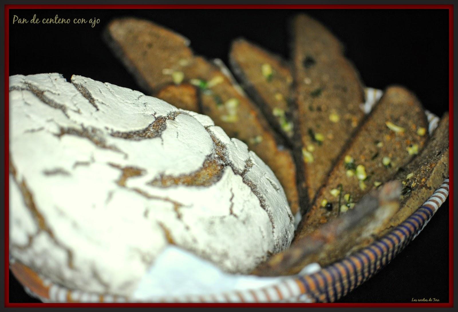 Pan de centeno con ajo tererecetas 04