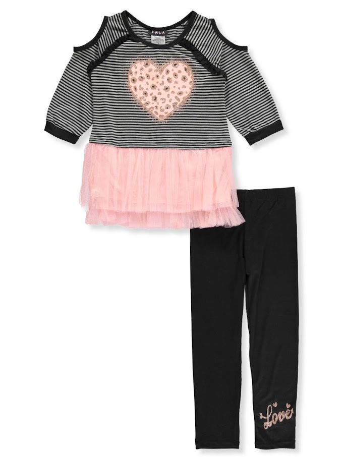 COOKIESKIDS - GIRLS' 2-PIECE LEGGINGS SET OUTFIT $9.99