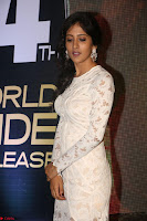 Chandini Chowdary in white Tight dress at Shamanthakamani pre release function ~  Exclusive 019.JPG