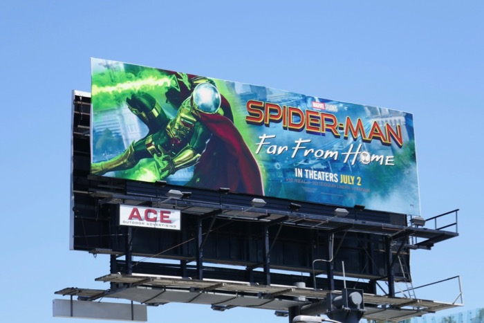 SpiderMan Far From Home Mysterio billboard