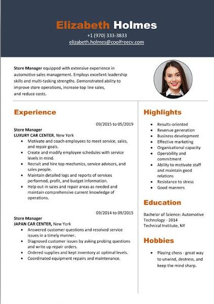image display resume