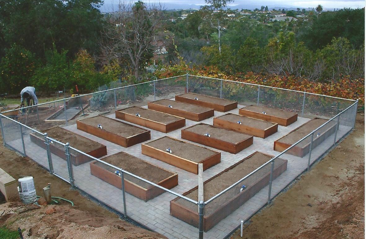 The 2 Minute Gardener Photo Fenced In Vegetable Garden