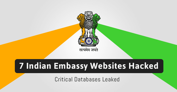 Websites of Indian Embassy in 7 Countries Hacked; Database Leaked Online
