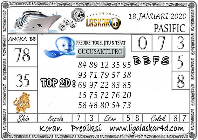 Prediksi Togel PASIFIC LASKAR4D 18 JANUARI 2020