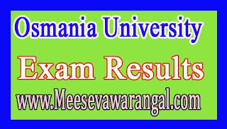 Osmania University PDC Oct 2016 Exam Results