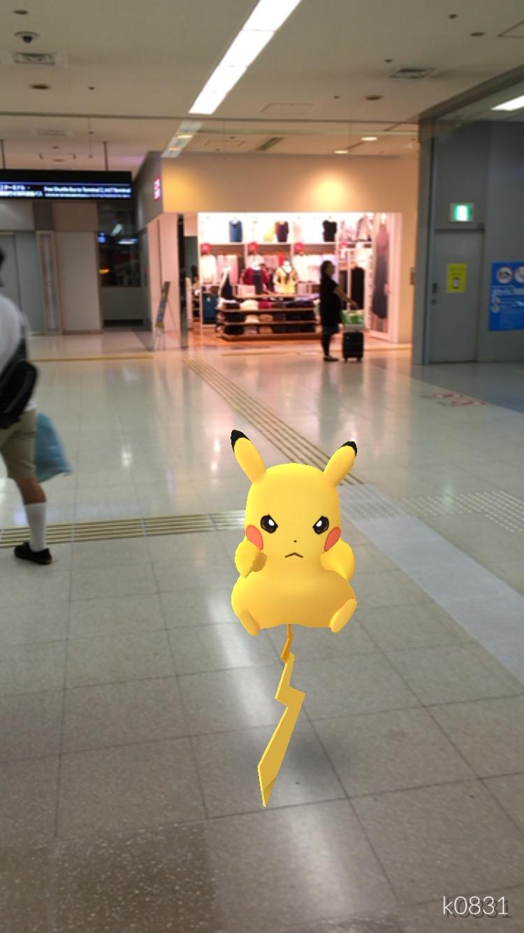 【ポケモンGo】Day15 その2: 羽田空港でピカチュウを入手
