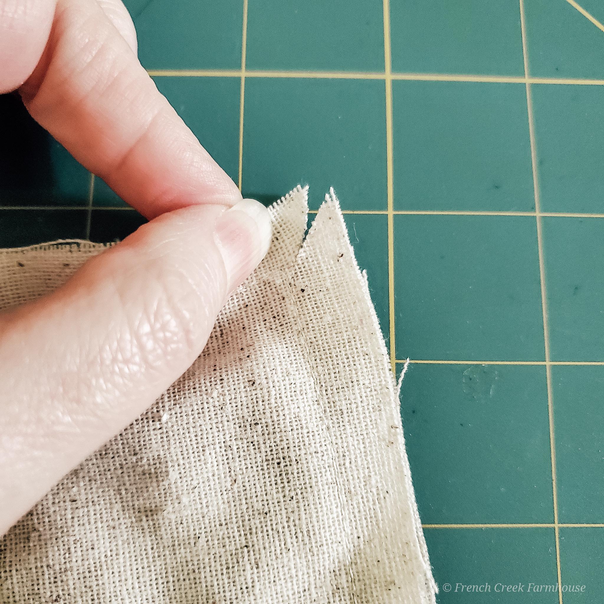 Step 7: Nip corners