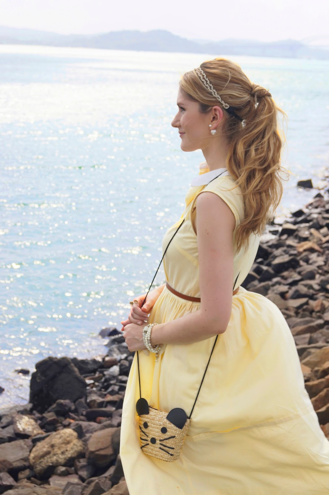 Add a headband to your ponytail for a quick and easy summer hairstyle!