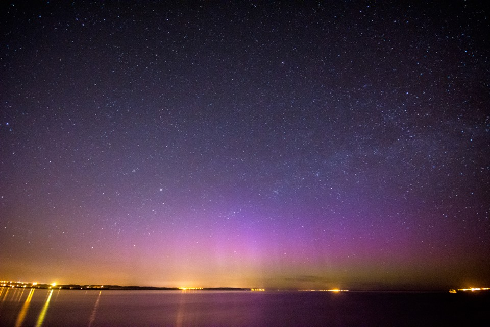 Zorza polarna sfotografowana w noc z 2 na 3 maja. Reda, pomorskie. Autor: Marek Stan