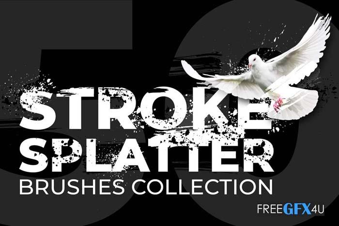 50 Brush Strokes & Splatters