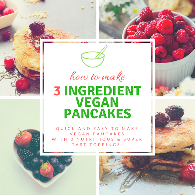 three ingredients, pancakes, healthy, kids, quick, simple, tasty, berries, lemon, sugar, pecan, vegetarian