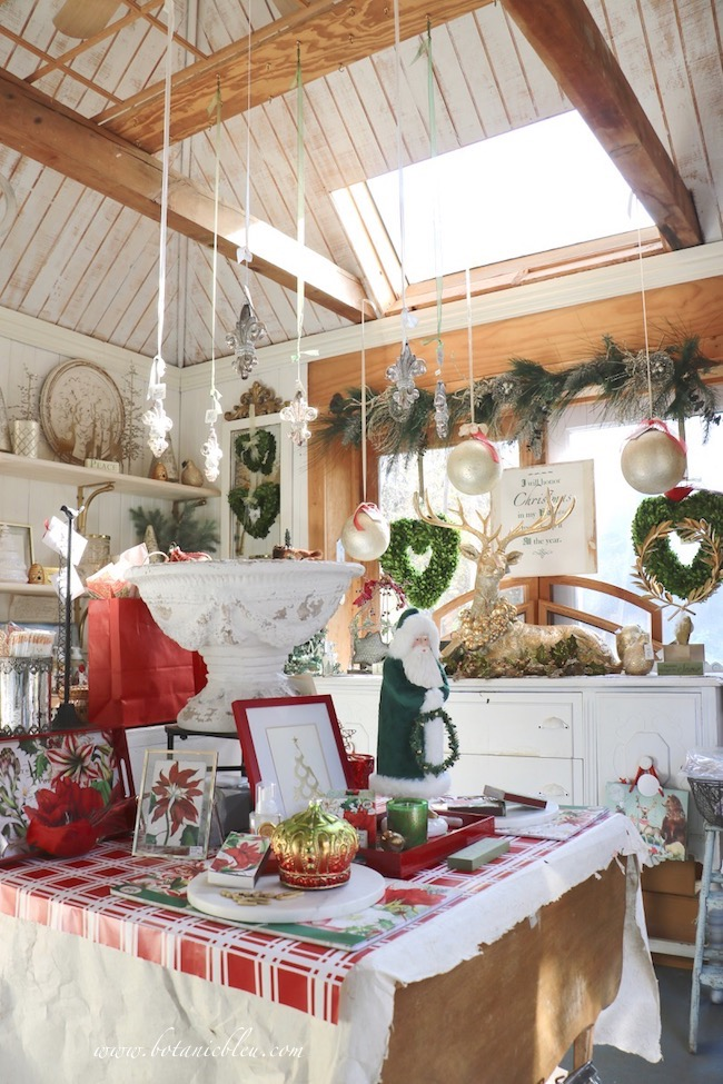 French Country Christmas Event in the garden shed for the tenth year