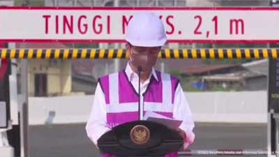 Presiden Jokowi Resmikan Jalan Tol Kelapa Gading - Pulo Gebang