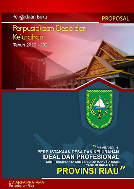Proposal Pengadaan Buku Perpustakaan Desa dan Kelurahan Provinsi Riau 2020 - 2021