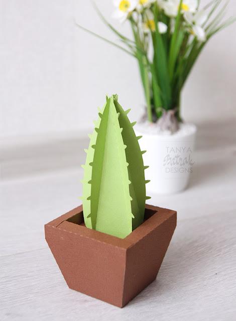 paper cactus in a pot