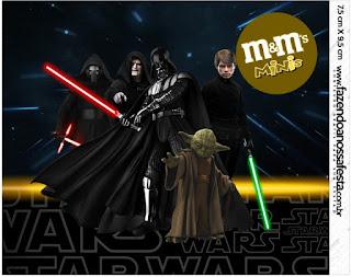 Etiqueta M&M de Star Wars para Imprimir Gratis.