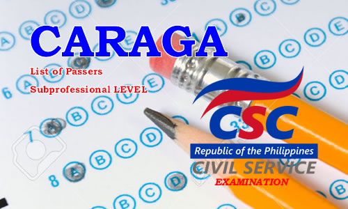 List of Passers CARAGA Region August 2017 CSE-PPT Subprofessional Level