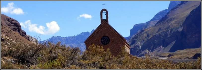 Capilla Nuestra Señora de las Nieves, ladera Co. Banderita Sur - Puente del Inca - Las Heras - MENDOZA