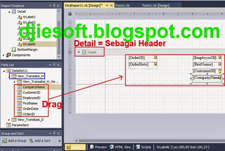 DevExpress : Membuat Report/Laporan dengan XtraReport+Preview+Print