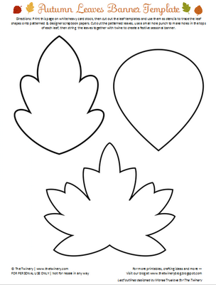 Early play templates leaf templates for Autumn leaf template free printables