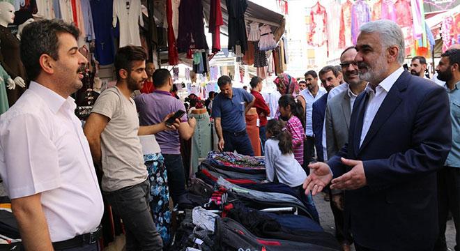 Zekeriya Yapıcıoğlu'ndan Diyarbakır'da esnaf ziyaretleri