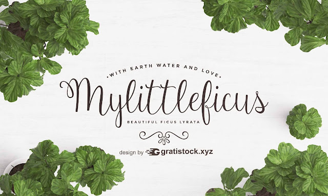 Free Download PSD Of  Cute Background With Green Leaves.