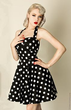 polka dot dress - pin up