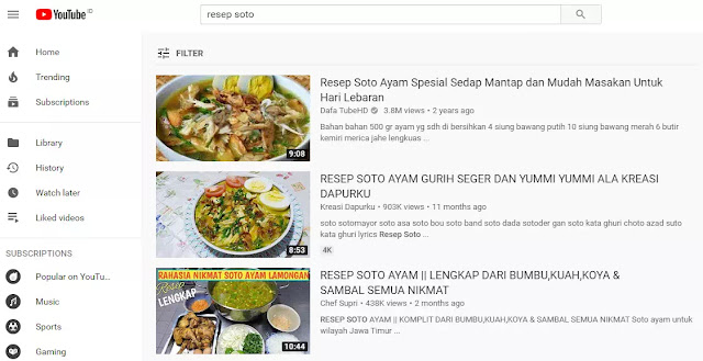 Selama ada yang mencari resep soto, maka video tersebut tidak akan pernah sepi pengunjung.