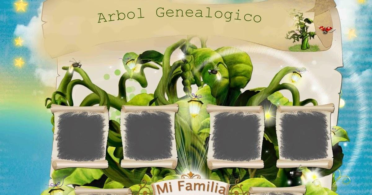 Plantillas para collage de fotos No2 (Árbol Genealógico) | Vectores ...