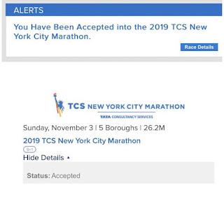 TCS NYC Marathon 2019 tirage au sort