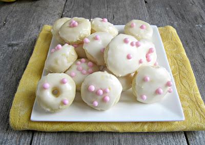 Baked Lemon Glazed Mini Doughnuts