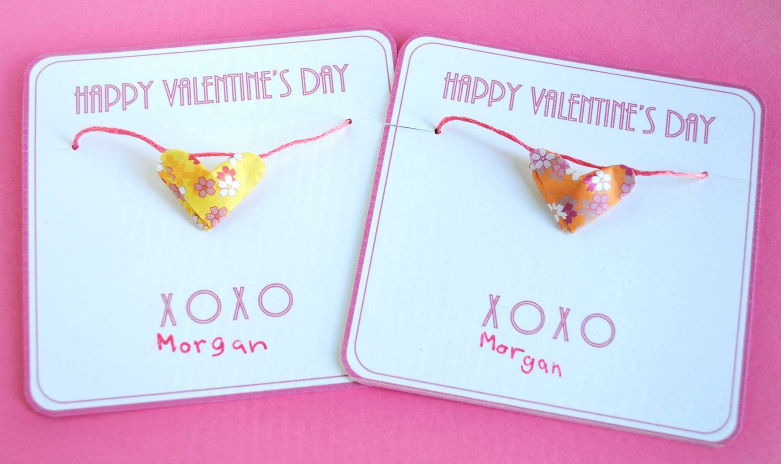 zakka life: Valentine Cards with Heart Necklaces - photo#12