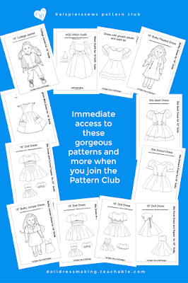 Valspierssews Doll Clothes Pattern Club