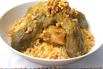 Moroccan couscous with walnut and aubergines