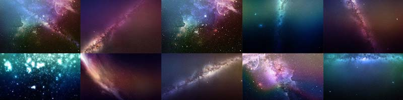 Night Sky Starry Overlays Pack