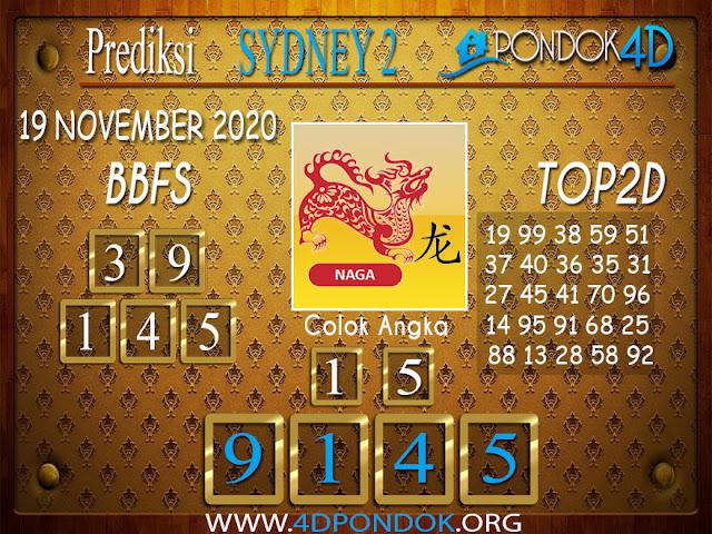 Prediksi Togel SYDNEY2 PONDOK4D 19 NOVEMBER 2020
